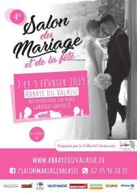 Salon du Mariage et de la fête à L'ABBAYE DU VALASSE SAMEDI 02 ET DIMANCHE 03 FEVRIER 2019